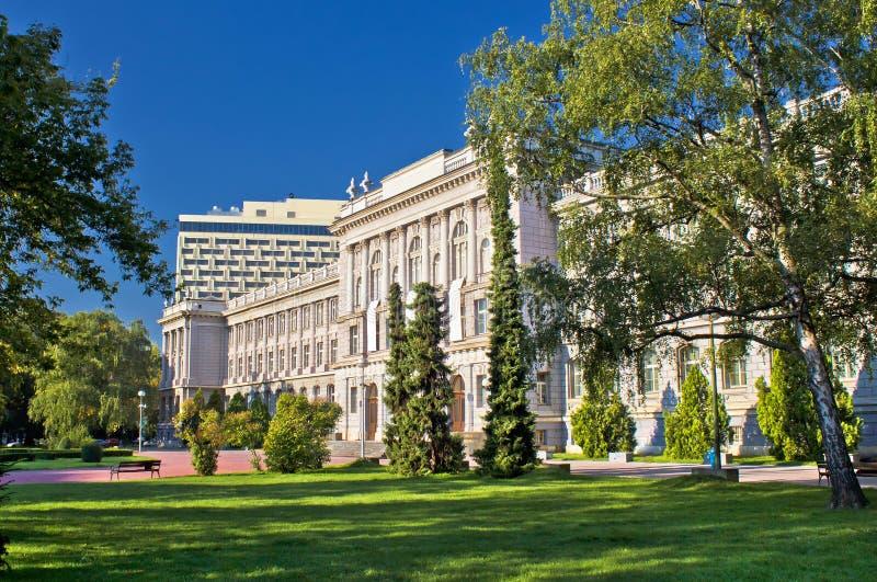 Stad van de architectuur en de aard van Zagreb royalty-vrije stock fotografie