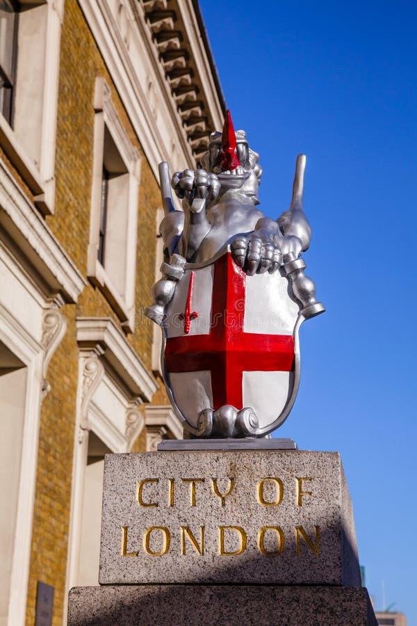 Stad van de grensteller van Londen stock foto's