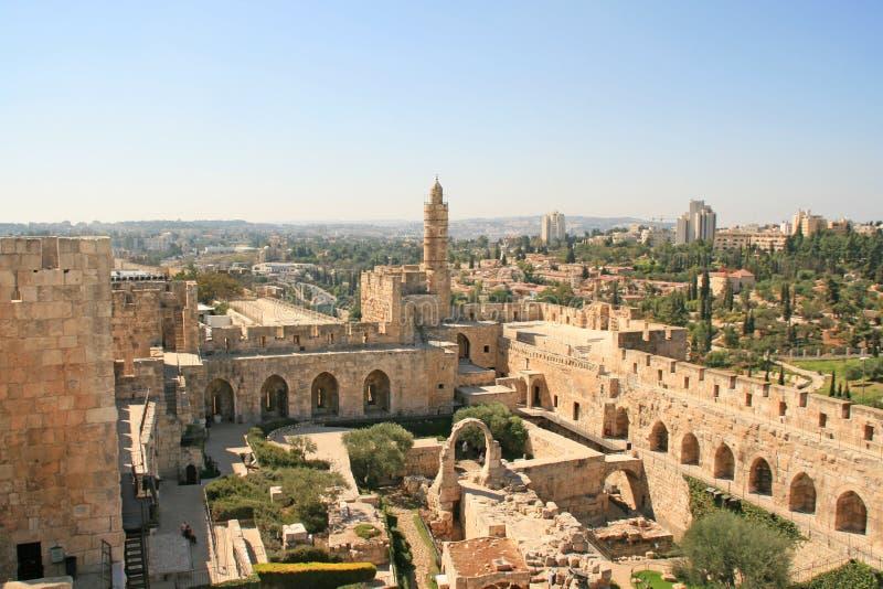 Stad van de koning David, Jeruzalem, Israël stock afbeelding