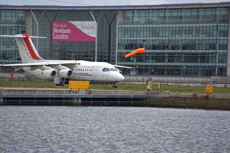 Stad van de Luchthaven van Londen stock fotografie