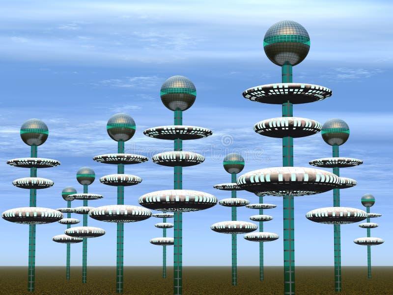 Stad van de toekomst stock illustratie