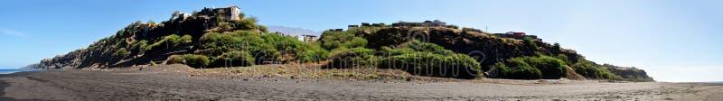 Stad van de zitting van Saofilipe op een oceanfrontplateau stock foto's