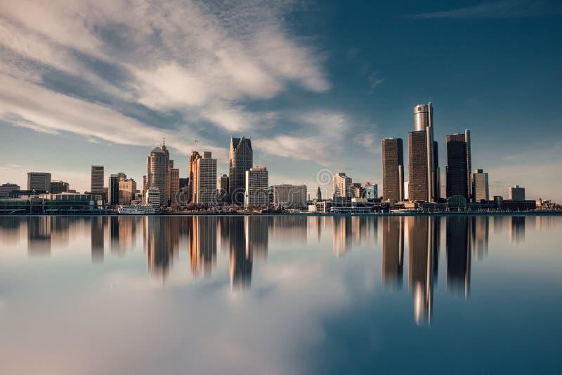 Stad van Detroit stock afbeelding