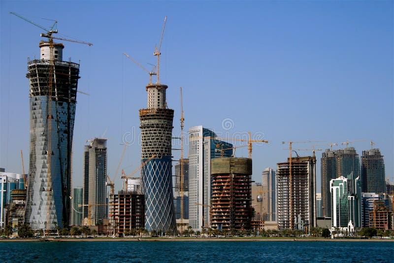 Stad van Doha, Qatar stock afbeelding