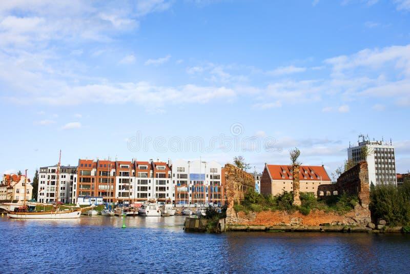 Stad van Gdansk stock afbeelding