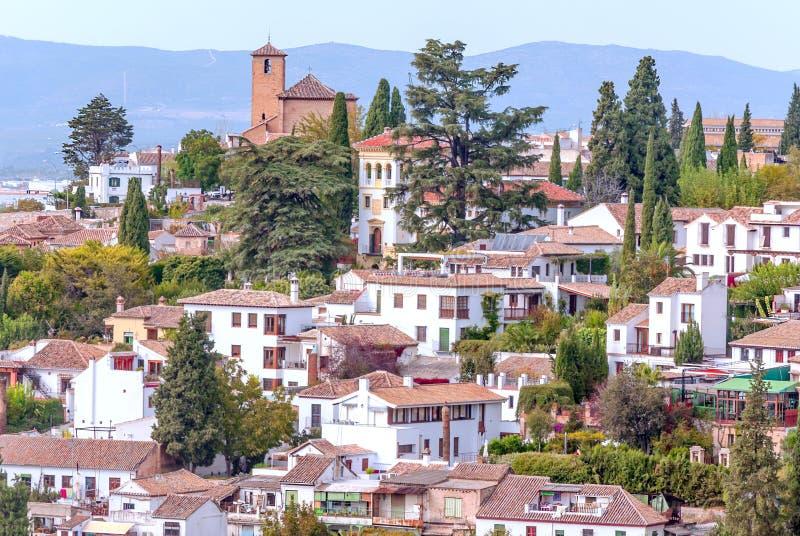 Stad van Granada stock fotografie