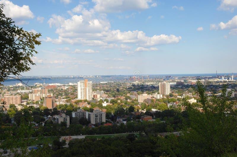 Stad van Hamilton in Canada stock afbeeldingen