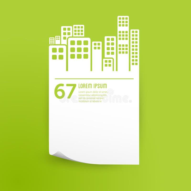Stad/van het gebouwen infographic ontwerp element stock illustratie