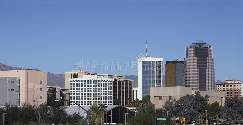 Stad van het panorama van Tucson, AZ royalty-vrije stock fotografie