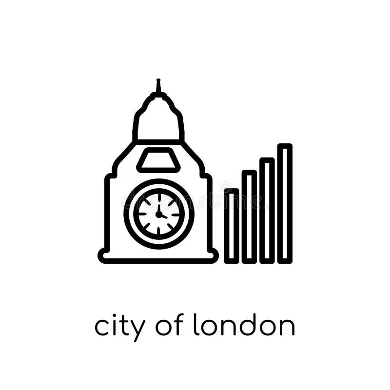 Stad van het pictogram van Londen van Stad van de inzameling van Londen vector illustratie