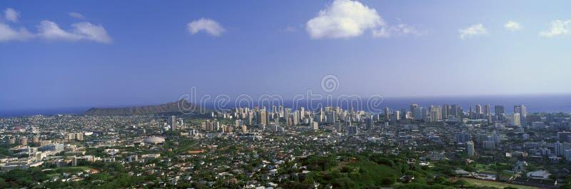 Stad van Honolulu royalty-vrije stock afbeeldingen