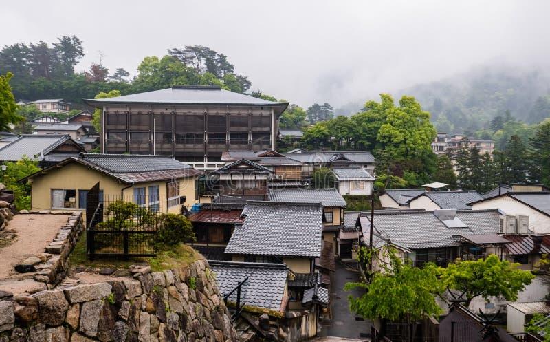 Stad van Itsukushima royalty-vrije stock afbeelding