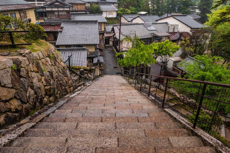Stad van Itsukushima royalty-vrije stock foto's