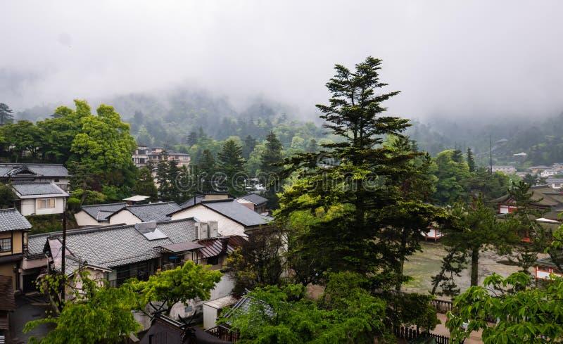Stad van Itsukushima stock afbeelding