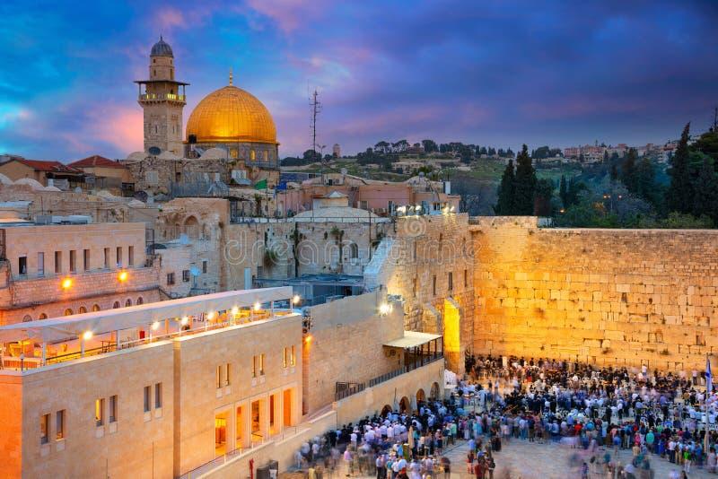 Stad van Jeruzalem royalty-vrije stock foto's