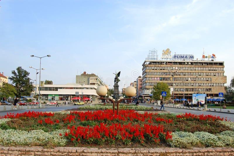 Stad van Krusevac, Centraal Servië stock afbeeldingen