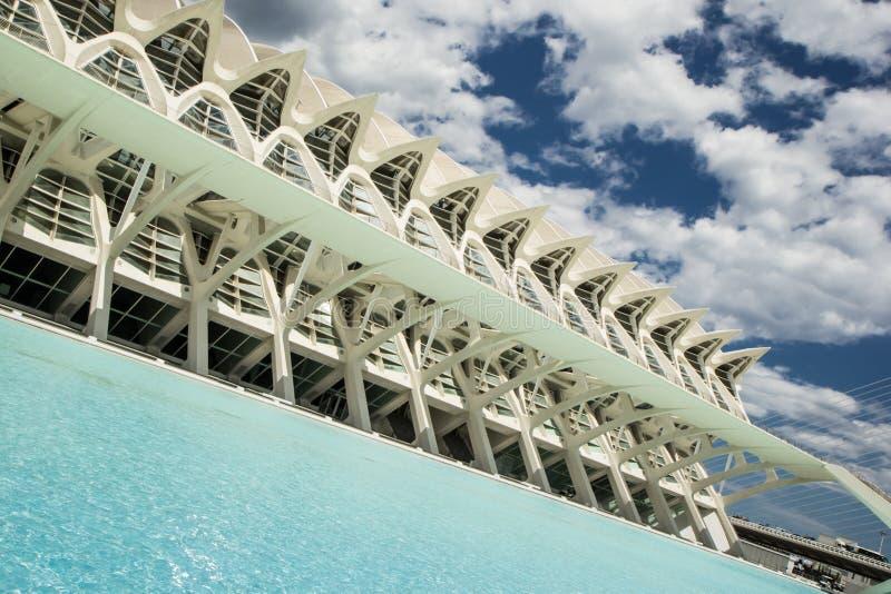 Stad van kunst en wetenschapsmuseum in Valencia. Spanje stock afbeeldingen