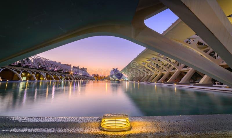 Stad van kunsten, de moderne bouw in Valencia stock afbeelding