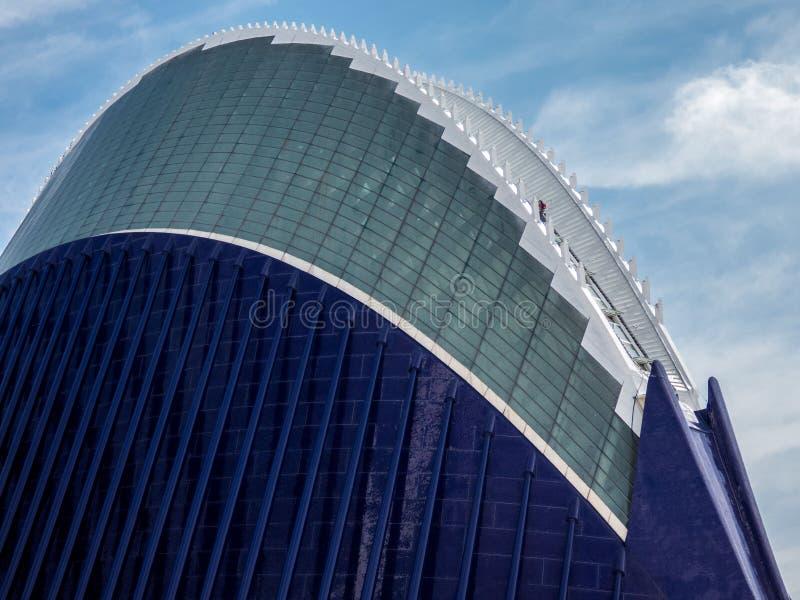 Stad van Kunsten en Wetenschap in Valencia, Spanje, Europa royalty-vrije stock afbeelding