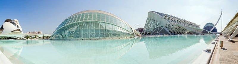 Stad van Kunsten en Wetenschappen - panorama royalty-vrije stock fotografie