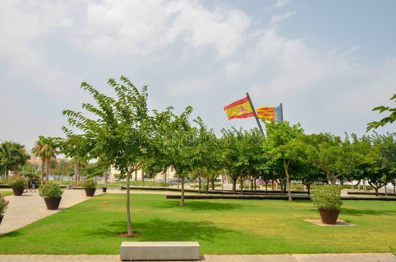 Stad van Kunsten en Wetenschappen Valencia De stad van Valencia van wetenschap Hemisferic Valencia, Spanje stock foto's