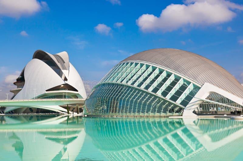 Stad van Kunsten en Wetenschappen - Valencia Spain royalty-vrije stock afbeelding