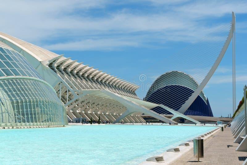 Stad van Kunsten en Wetenschappen in Valencia, Spanje stock fotografie
