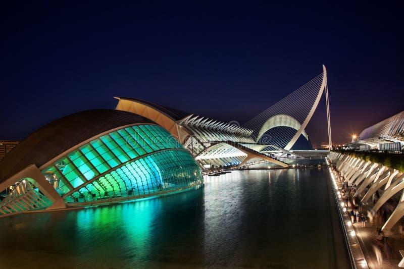 Stad van Kunsten en Wetenschappen in Valencia - Spanje stock afbeeldingen