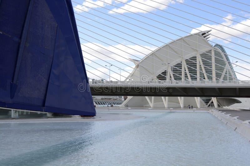 Stad van Kunsten en Wetenschappen in Valencia, Spanje royalty-vrije stock foto