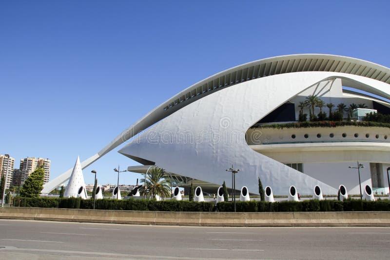 Stad van Kunsten en Wetenschappen in Valencia, Spanje royalty-vrije stock foto's