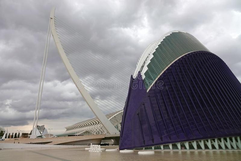 Stad van Kunsten en Wetenschappen in Valencia, Spanje stock foto
