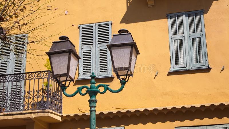 Stad van La Turbie royalty-vrije stock foto