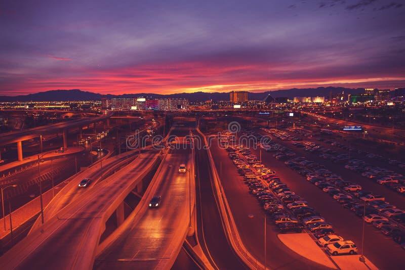 Stad van Las Vegas Nevada stock foto's