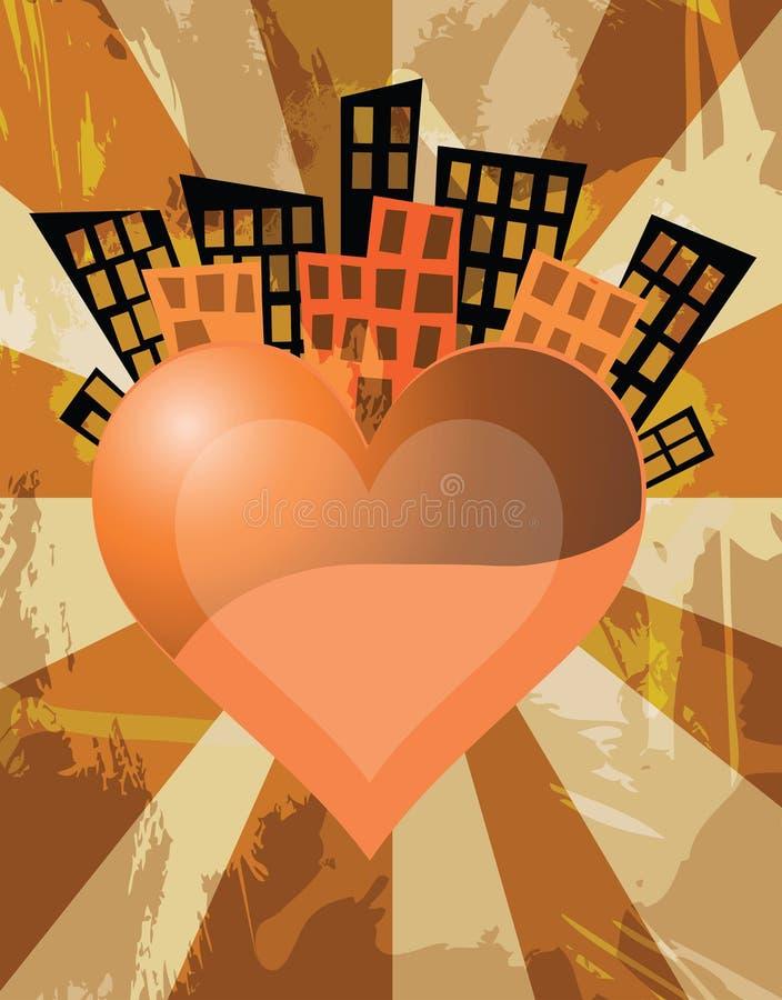 Stad van liefde royalty-vrije illustratie