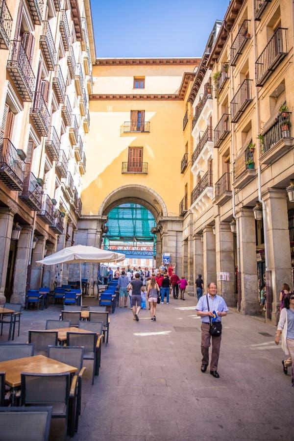 Stad van Madrid stock fotografie