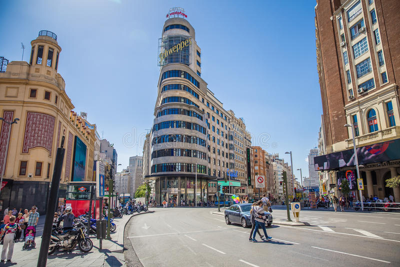 Stad van Madrid royalty-vrije stock afbeelding