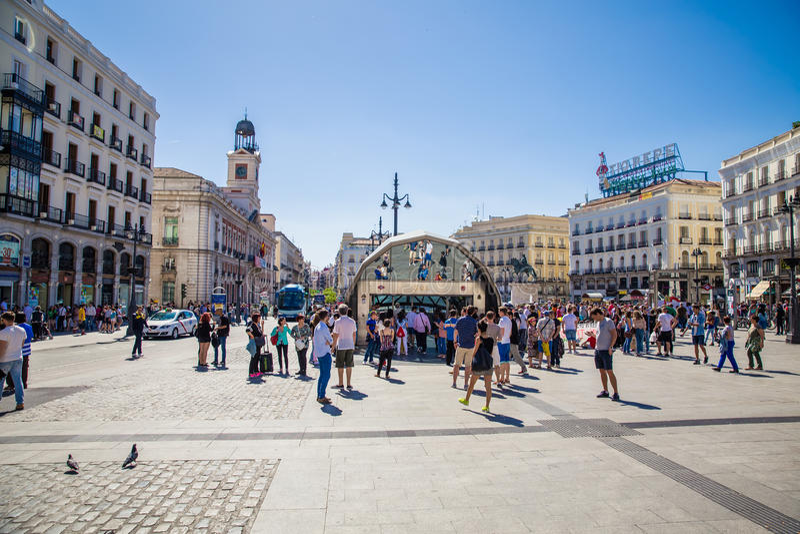Stad van Madrid royalty-vrije stock foto's