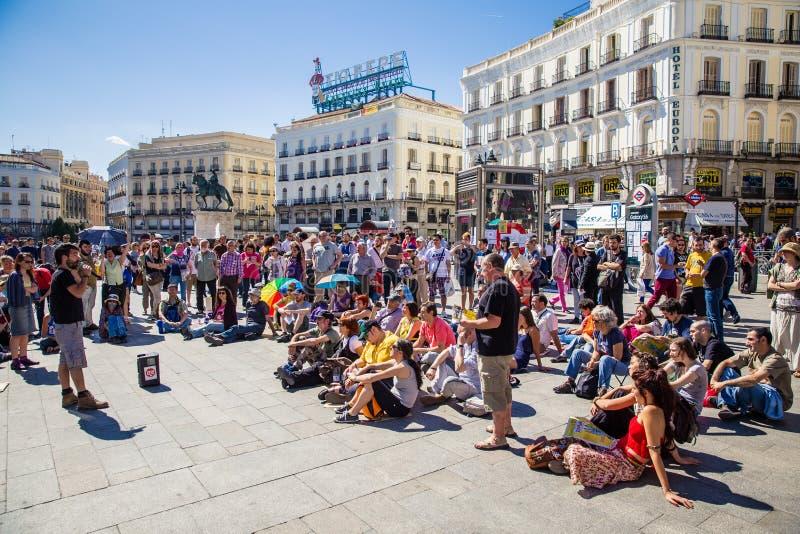 Stad van Madrid stock afbeeldingen