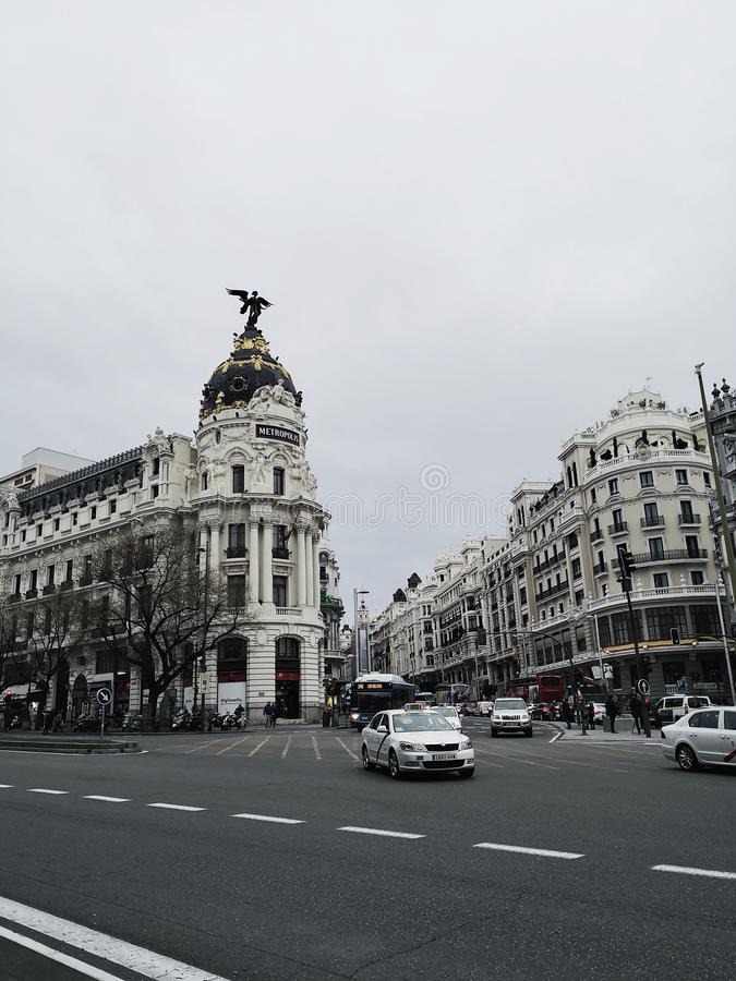 Stad van Madrid royalty-vrije stock foto
