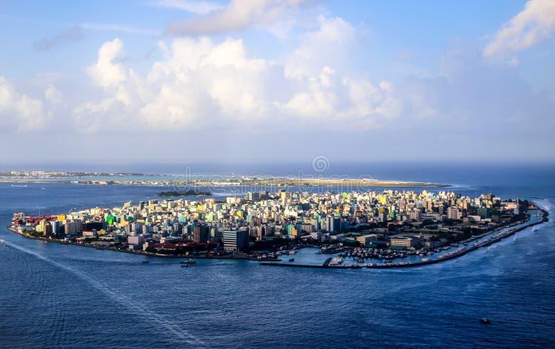 Stad van Mannetje, kapitaal van de Maldiven royalty-vrije stock afbeeldingen