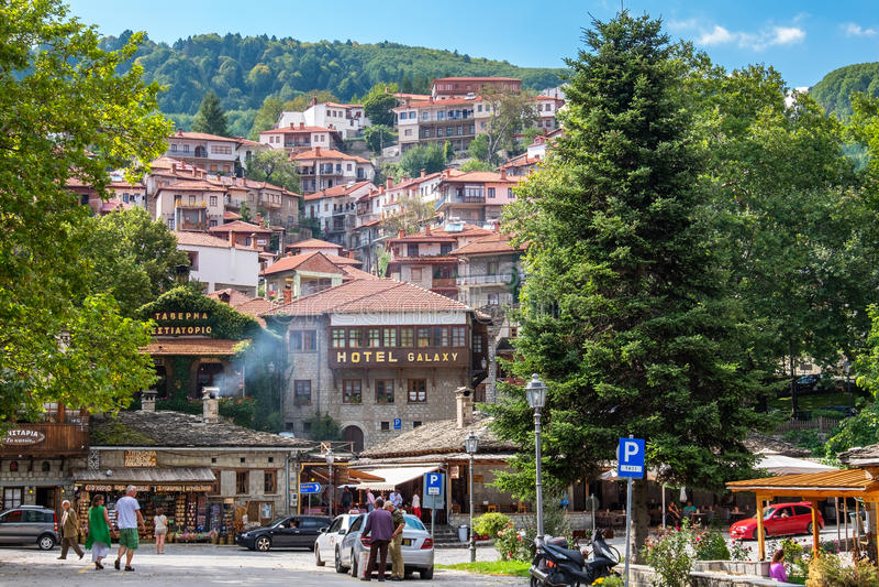 Stad van Metsovo Epirus, Griekenland royalty-vrije stock fotografie