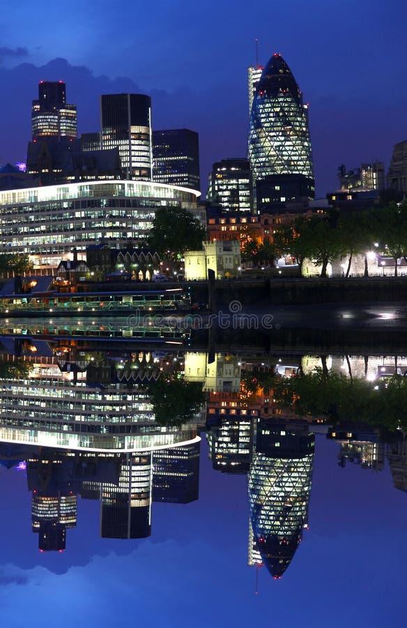Stad van modern Londen, het UK royalty-vrije stock fotografie