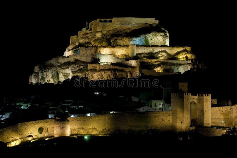 Stad van Morella stock afbeelding