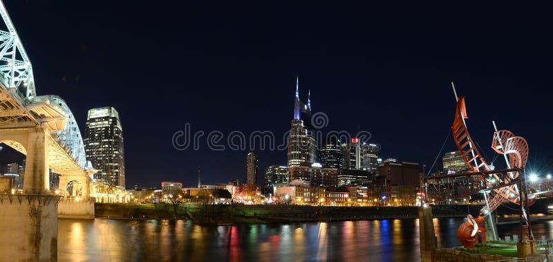 Stad van Nashville Tennessee royalty-vrije stock afbeeldingen