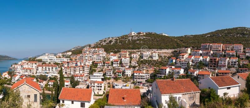 Stad van Neum in Bosnië anf Harzegovina stock foto's