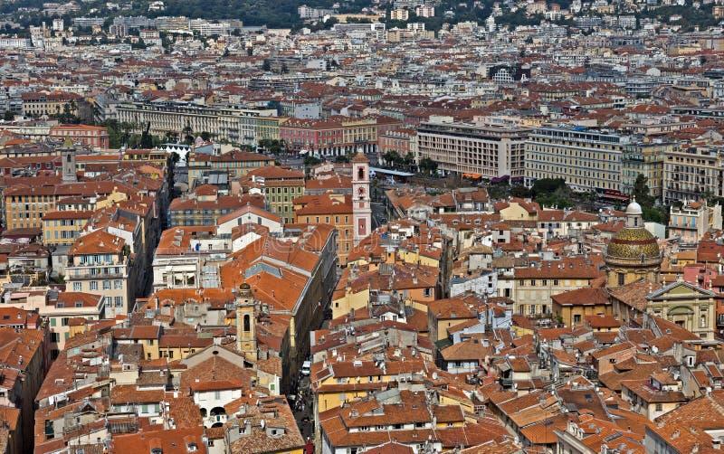 Stad van Nice - Mening van de stad van hierboven royalty-vrije stock fotografie