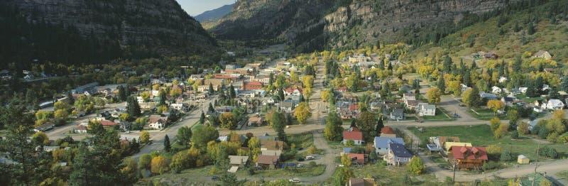 Stad van Ouray stock afbeelding