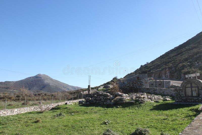 Stad van Pyrichos, Griekenland stock afbeeldingen