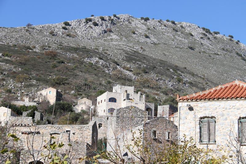 Stad van Pyrichos, Griekenland royalty-vrije stock foto