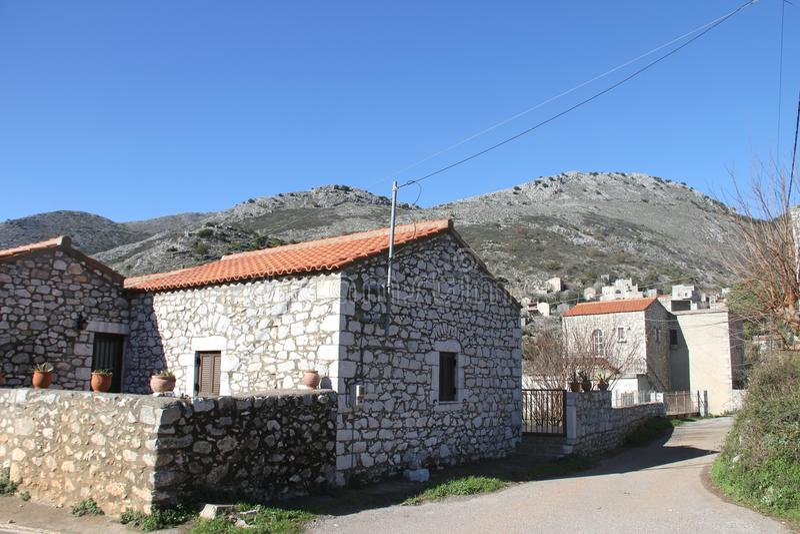 Stad van Pyrichos, Griekenland stock fotografie